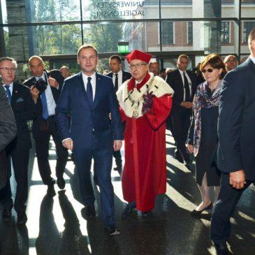Prezydent Andrzej Duda na inauguracji roku akademickiego na UJ