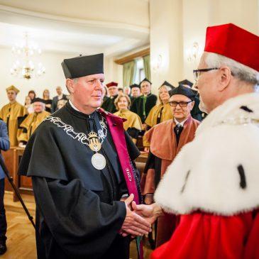 Prof. Thomas J. Haas z tytułem doktora honoris causa Uniwersytetu Ekonomicznego w Krakowie.